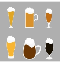 Different types of beer vector
