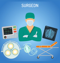 doctor surgeon concept vector image