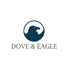 dove and eagle negative space concept design vector image