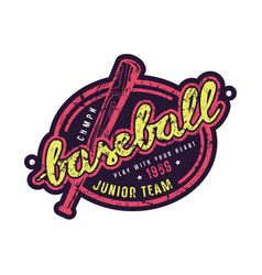 emblem of baseball junior team vector image
