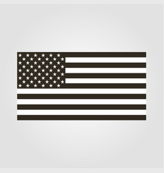 flag icon usa black and white flat design vector image