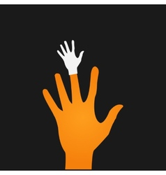 flat icon hands color abstraction eps vector image