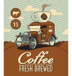 fresh coffee car vector image
