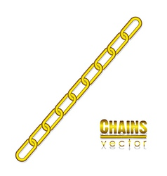 Gold link chain vector