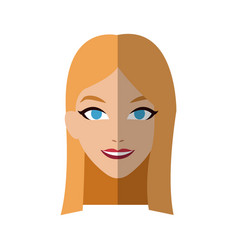 Handsome woman icon vector
