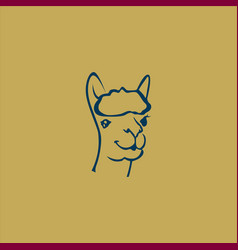 head camel abstract logo vector image