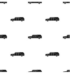Hearse icon in black style isolated on white vector