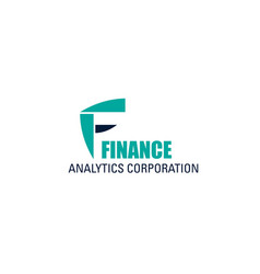 icon for finance analytics corporation vector image