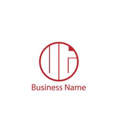 Initial letter ut logo template design vector