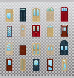 isolated wood or wooden facade exterior doors vector image
