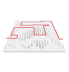 isometric way pass intricacy labyrinth maze vector image