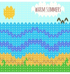 Knitted background warm summers vector image