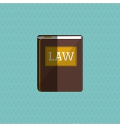 Law and Justice book icon design vector