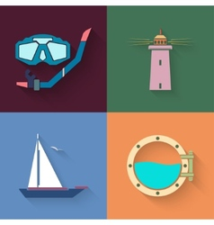 marine set vector image