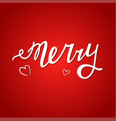 Merry me red vector