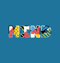 mind concept word art vector image