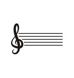 music note logo design inspiration vector image