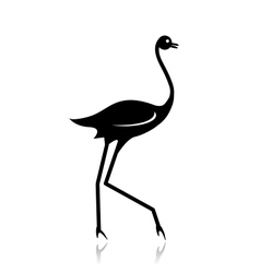 Ostrich sketch black for your design vector