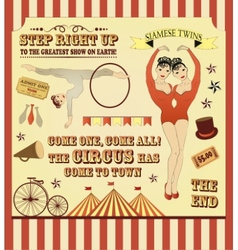 Pattern of the circus vector image