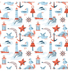 Pattern with marine issues vector