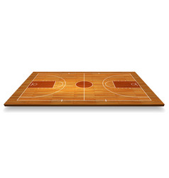 perspective basketball court floor with line vector image