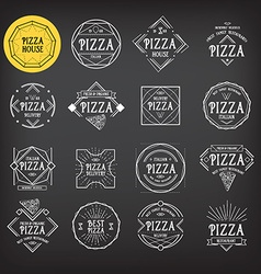 Pizza icon restaurant Badge design vector