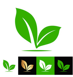 plant seed leaf logo stock vector image