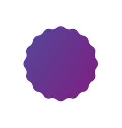 purple gradient smooth edged burst badge seal or vector image