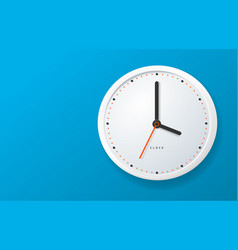 realistic detailed 3d clock banner horizontal vector image