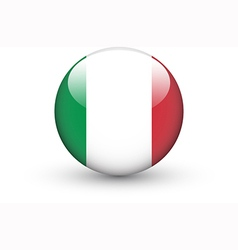 Round icon with national flag of Italy vector