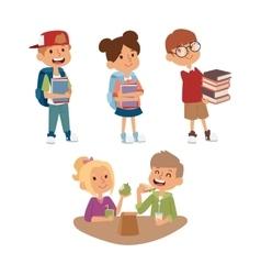 School kid primary education character vector