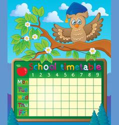 School timetable theme image 5 vector