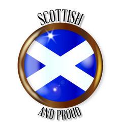 Scottish proud flag button vector