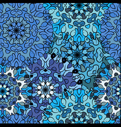 Seamless blue artistic pattern vector