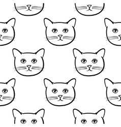 Seamless pattern with cute cats animal Children vector image