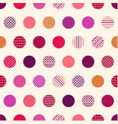 seamless polka dots with geometric texture pattern vector image