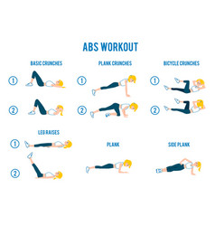Set exercises for step step training vector