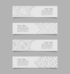 Set of banners with traditional ornament vector