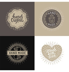 Set of design elements badges and labels in vector