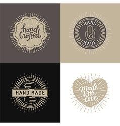 Set of design elements badges and labels vector