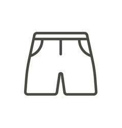 shorts icon line summer clothes symbol iso vector image