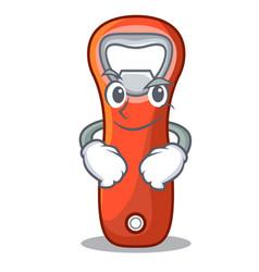 Smirking aluminium bottle opener for design vector