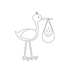 stork brought the baby vector image