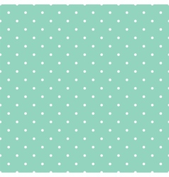 Tile pattern white polka dots on green background vector
