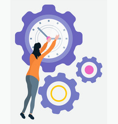 time is money setting clock circle watch vector image