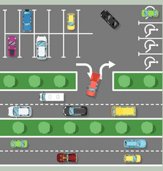 traffic laws poster in flat style vector image