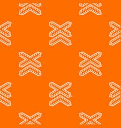 Two non barrier railways pattern orange vector