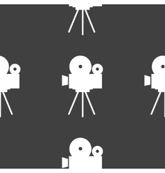 Videocamera web icon flat design Seamless gray vector