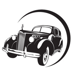 vintage car high detail vector image