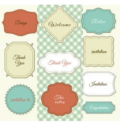 Vintage frames on shabchic background vector